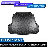 Car Rear Trunk Boot Mat Waterproof Floor Mats Carpet Anti Mud Tray Cargo Liner For Hyundai Sonata Sedan 2010 2014   -