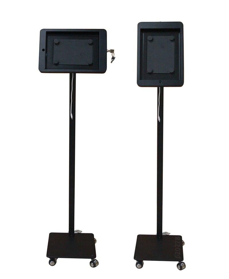 Купить с кэшбэком Anti-Theft Floor Stand Case with Lock mental case holder Fit for iPad2 3 4 Air 1 2 Pro 9.7 metal case frame security