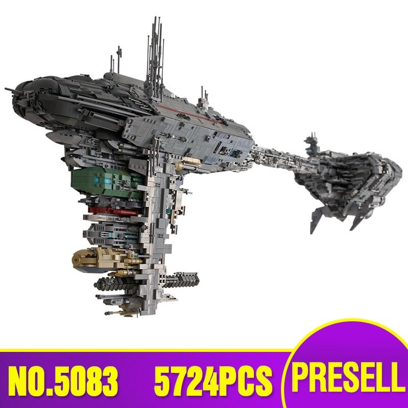 The MOC 5083 UCS Nebulon-B Medical Frigate Model Compatible Lepining Star Toys Wars Building Blocks Bricks Kids Christmas Gift