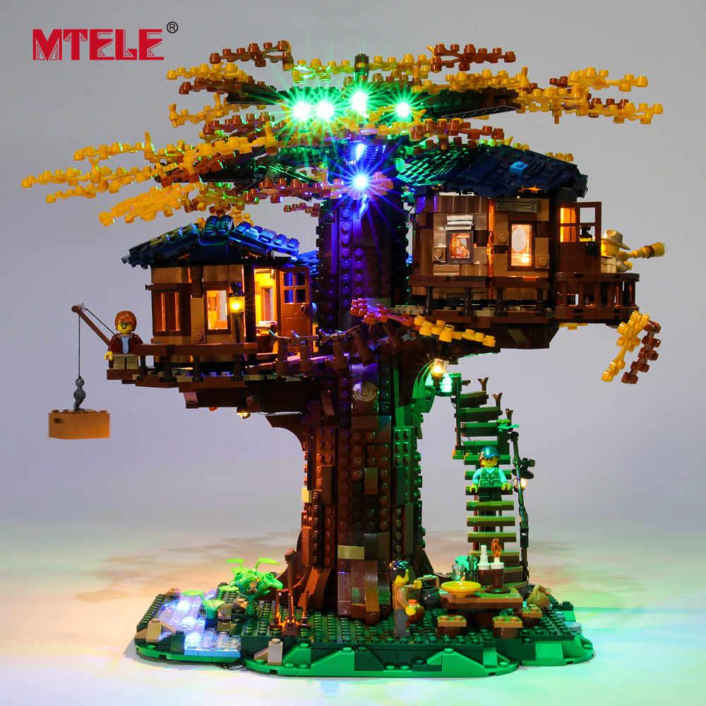 Mtele di Marca Ha Condotto La Luce Up Kit per Le Idee Serie Albero di Casa Giocattoli Set di Illuminazione Compatile con 21318