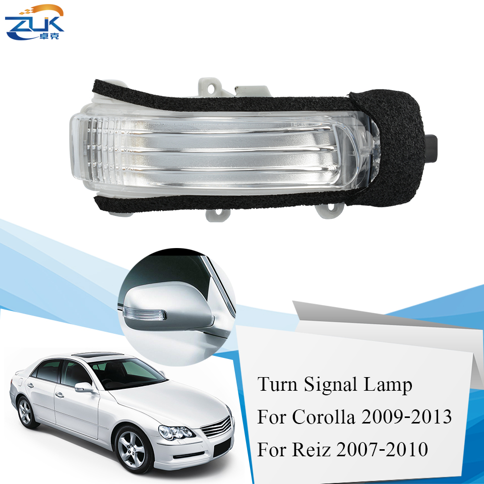 ZUK Rearview Side <font><b>Mirror</b></font> LED Turn Signal Lamp Repeater Flasher For COROLLA <font><b>AURIS</b></font> RUKUS ZELAS REIZ MARK X SCION xB tC PASSO BLADE image