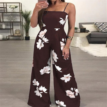 New Womens Summer Playsuit Romper Jumpsuit Ladies Sleeveless Casual Floral Print Sleeveless Fashion Jumpsuit 2019 Hot Plus Size 6