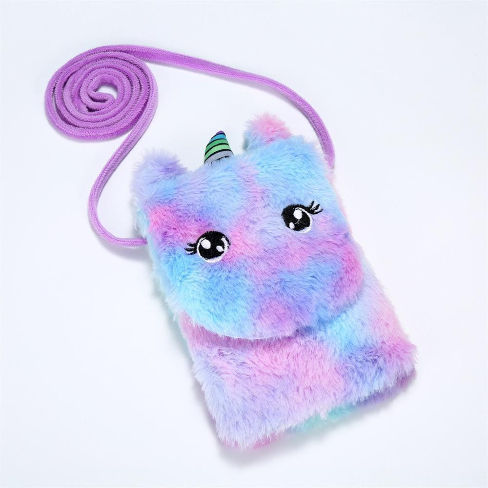 Unicorn Children Crossbody Wallet Coin Purse Shoulder Fashion Retro Cute Messenger New Zipper Handle Bag Crossbody Key Case Sac*