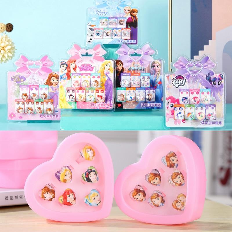 Disney reine des neiges 2 Anna Elsa Sofia princesse maquillage Belle blanche neige enfants semblant jouer jouets pour filles ensemble d'anneaux Disney bijoux