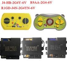 R9AA-2G4-6V J4-HB-2G4Y controle remoto bonde do bluetooth do carro das crianças, receptor bonde do carro 2.4g do brinquedo do bebê com começo liso