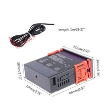 110V 220V Digital Temperature Controller 10A Cooling Heating Thermostat MH-1210A