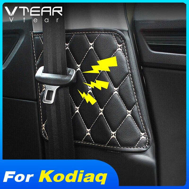 Vtear-cinturón de seguridad de asiento para coche Skoda Kodiaq, almohadilla protectora, antigolpes estera, accesorios de decoración interior, auto 2020