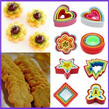 Cookies Cutter Circle Biscuit-Cake-Mould Fondant-Sugarcraft Christmas Plastic DIY Holiday-Supply