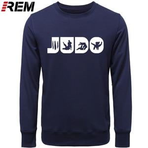 Image 3 - Sweat shirt, col ras du cou graphique, en coton imprimé, vêtement de Judo REM, Arts martiaux, cadeau pour hommes