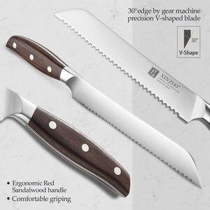 Image 3 - XINZUO 8 дюймов нож для хлеба немецкий 1,4116 нож для торта из нержавеющей стали кухонные ножи Высокое качество инструменты для приготовления красного сандалового дерева ручка