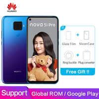 Cargadores de coche Huawei Nova 5i Pro mundial ROM soporte Google play 6,26 pulgadas Pantalla Completa 8GB 128GB Kirin 810 de ocho núcleos core 48MP Quad Cámara Smartphon