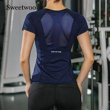Women Summer T Shirts Slim Fit For Sports Fitness Yoga Short Sleeve Top Mesh Womens Gym Shirt Sport Wear