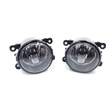 1 Pair 12v Led Front Fog Lights H11 Car Styling Round Bumper Halogen Fog Lamps For Mitsubishi Outlancer стоимость