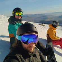 Snowboard Goggles Glasses Ski-Mask COPOZZ Skiing Anti-Fog Double-Layers Women Brand UV400