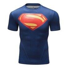 Herren T shirt Kompression Shirt Neue Batman 3D Gedruckt T shirts Männer Raglan Kurzarm Superhero Fitness Tops CODY LUNDIN