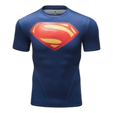 Mens T shirt Compressie Shirt Nieuwe Batman 3D Bedrukte T shirts Mannen Raglan Korte Mouw Superheld Fitness Tops CODY LUNDIN