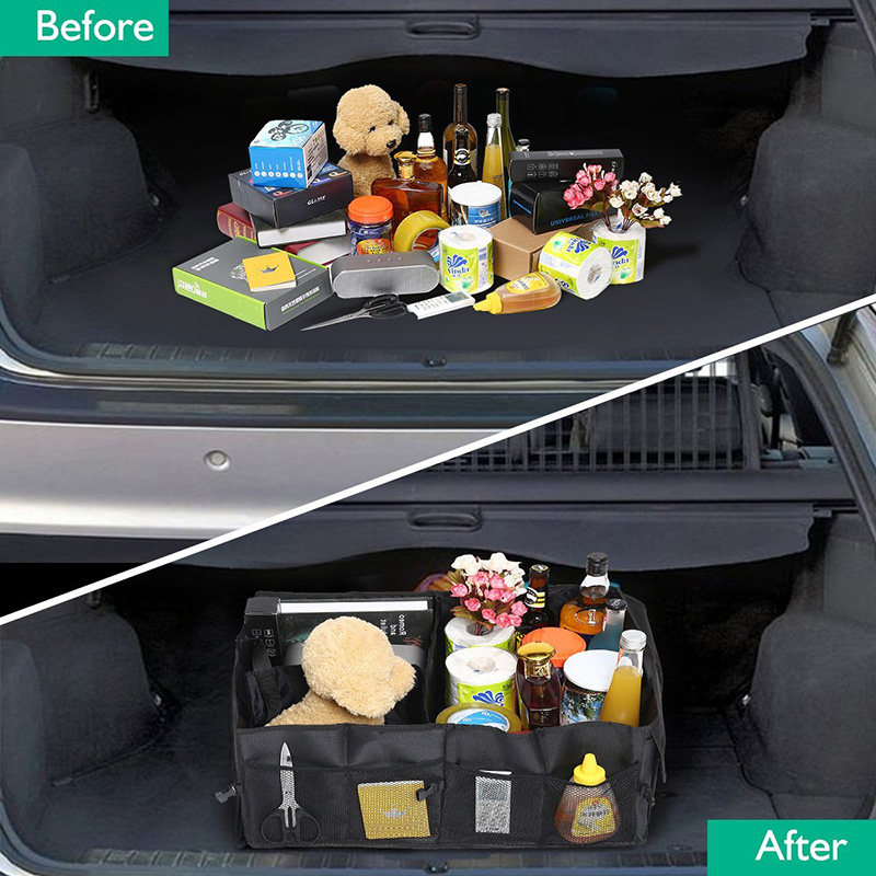 Car Trunk Organizer Eco-Friendly Super Strong & Durable Collapsible Cargo Storage Box For Auto Trucks SUV Trunk Box / Box 3