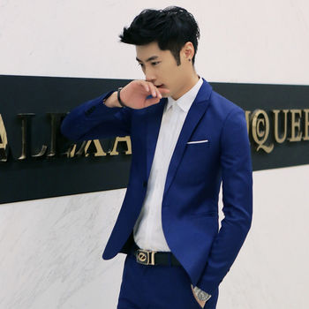 Multi Colors Male Blazers Brand 2019 Korean Style Men's Blazers and Jacket Slim Fit Solid Casual Suits Jacket Drop shipping