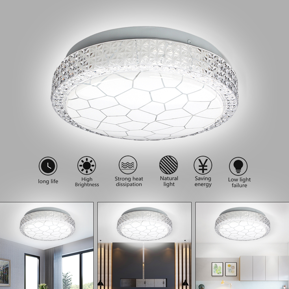 Crystal LED Flush Mount Ceiling Lights Fixture Mixed crystal Home Ceiling Lamps for Living Room Bedroom Kitchen
