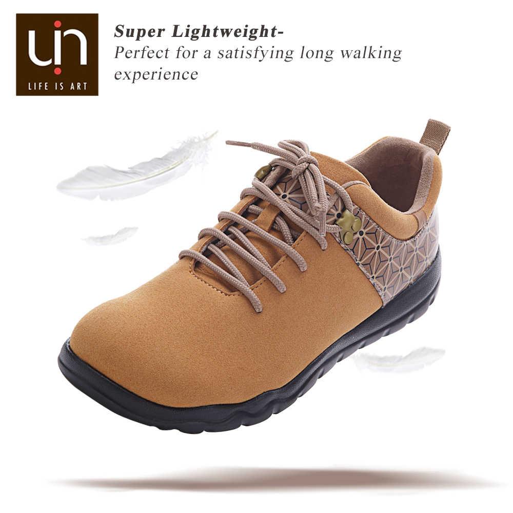 UIN Quebec Series Zapatos de otoño / invierno para mujeres / hombres Zapatillas de gamuza de microfibra Pies anchos Zapatos planos casuales al aire libre Ligero