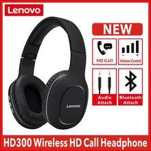 Nova lenovo hd300 sem fio fones de ouvido bluetooth 5.0 subwoofer esportes correndo fone unisex redução ruído chamada vídeo