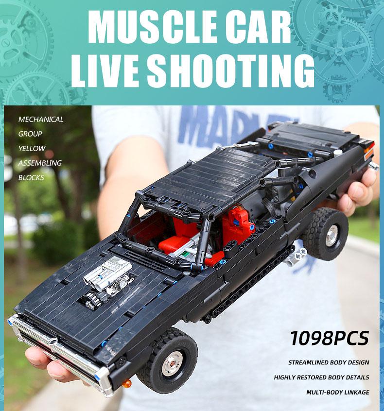 MOULD KING 13081 MOC 17750 Technic Ultimate Muscle Car Building Block (1098PCS) 9