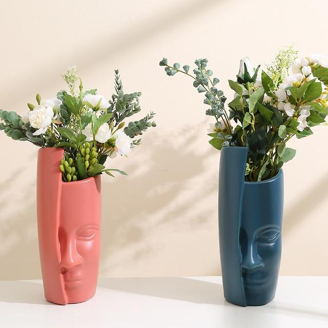 European Style Vase Decoration Home Decoration Anti-ceramic Plastic Vase Unbroken Wedding Hydroponic Flower Arrangement Modern 1