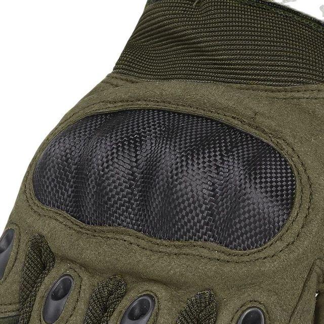 Guantes militares de dedo completo para hombre manoplas t cticas de combate SWAT de carbono duro