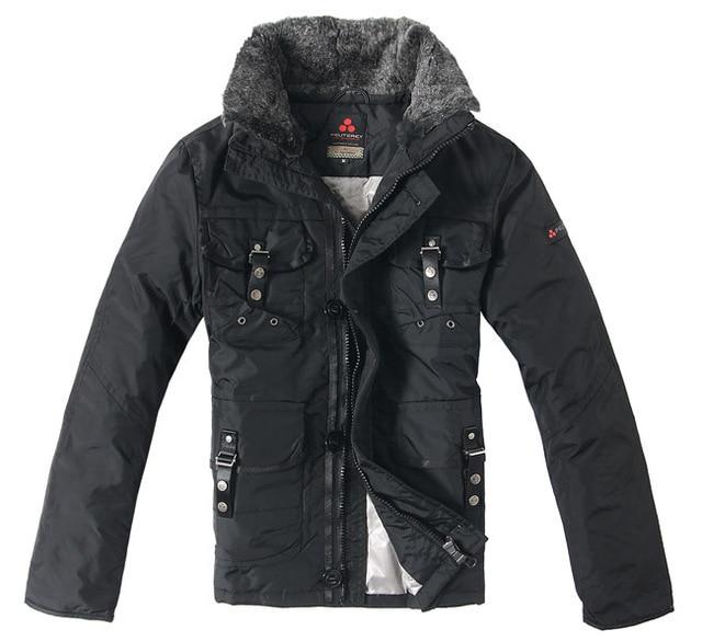 Men's Casual Clothing Doudoune PEUTEREY Men's Brand Down Jacket Multi-pocket Detachable Fur Collar Coat Man Apparel Outwear