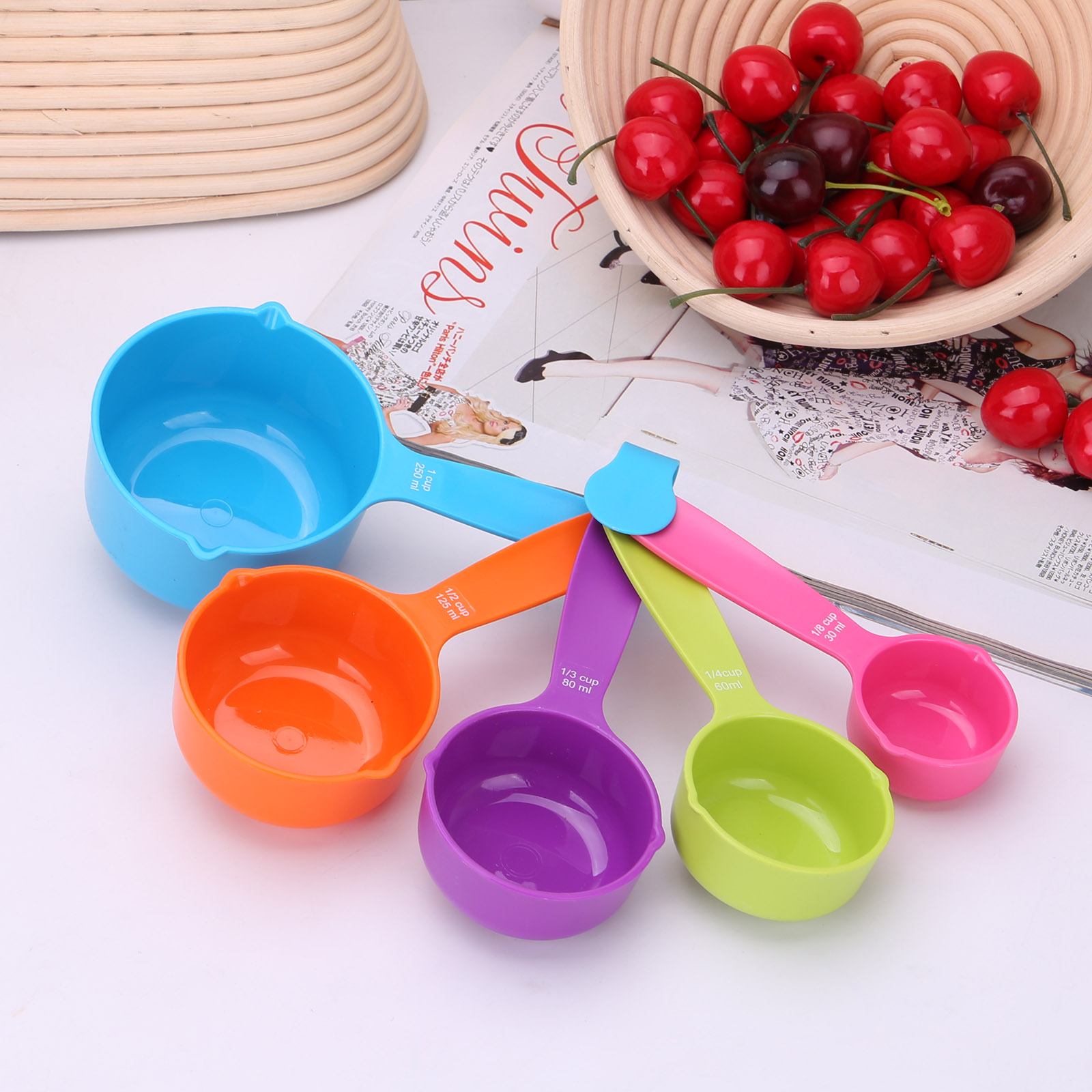 Super Useful Colorful 5pcs Measuring Spoons Kitchen Tools Measuring Cups Baking Utensil Set Measuring Environmentally Friendly