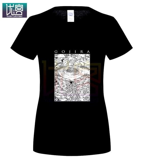 Gojira Logo Camiseta de Manga Larga Algod/ón Cuello Redondo Camisetas c/ómodas para Hombre