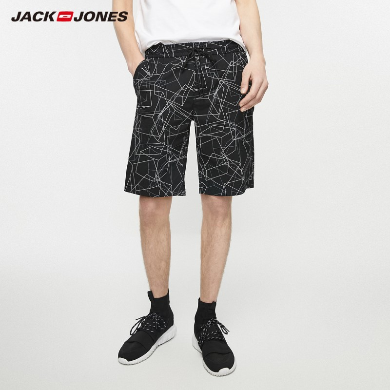 JackJones Men's Spring & Summer Straight Fit Stretch Casual Cotton Shorts Hiphop| 219215516