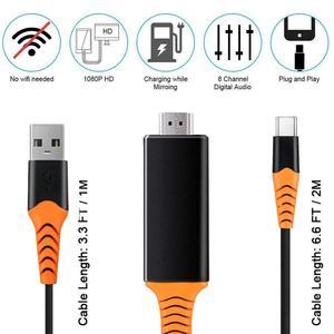 Image 2 - USB C Sang HDMI 4K 60Hz Cáp Type C Sang HDMI Thunderbolt 3 Cho Macbook iPad 2018 Huawei P30 P20 Pro Video USB C Cáp HDMI