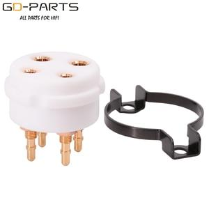 Image 4 - CMC Bakelite PTFE Vacuum Tube Sockets Bases 4pin 8pin 9pin For 2A3 300B KT88 EL34 12AX7 ECC81 ECC82 6550 274B Vintage Hifi DIY