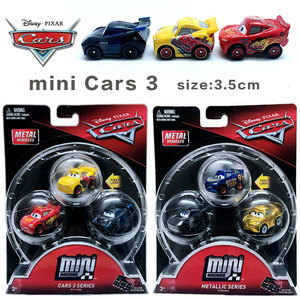 Disney Pixar Cars 3 Mini alloy Jackson Lightning McQueen cruz police car miss dinoco Boy Toy Car send kids Birthday Gift