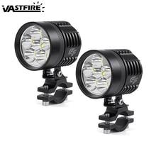 1 Or 2PCS 3 modes 120W/Pair 3000LM/Pair 6LED Motorcycle Spot Light LED Driving Headlight Fog Lamp High Power