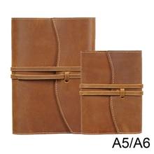 100% ของแท้หนังโน๊ตบุ๊คBookฝาครอบA5 A6 ขนาดสำหรับMDไดอารี่เดิมJournalวาดSketchbook