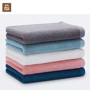 Image 1 - Oryginalny Xiaomi Youpin ręcznik 100% bawełna silne wchłanianie wody Sport produkt do kąpieli miękkie ręczniki trwałe przyjazne dla skóry Facecloth