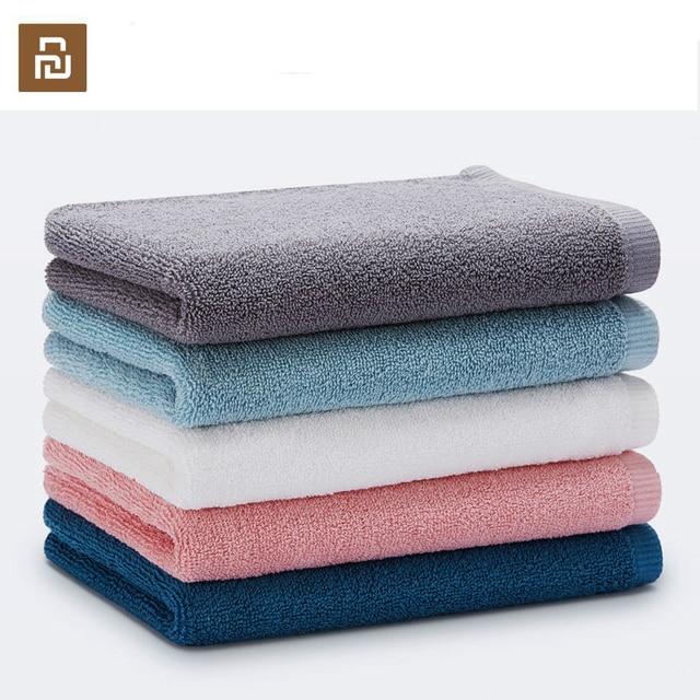 Oryginalny Xiaomi Youpin ręcznik 100% bawełna silne wchłanianie wody Sport produkt do kąpieli miękkie ręczniki trwałe przyjazne dla skóry Facecloth