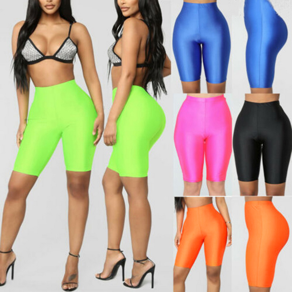 Laamei Fashion Women Cycling Shorts Dancing Gym Biker Slim Active Sports Solid Color Sexy Skinny Shorts 2020 Summer Gym Clothing|Shorts| - AliExpress