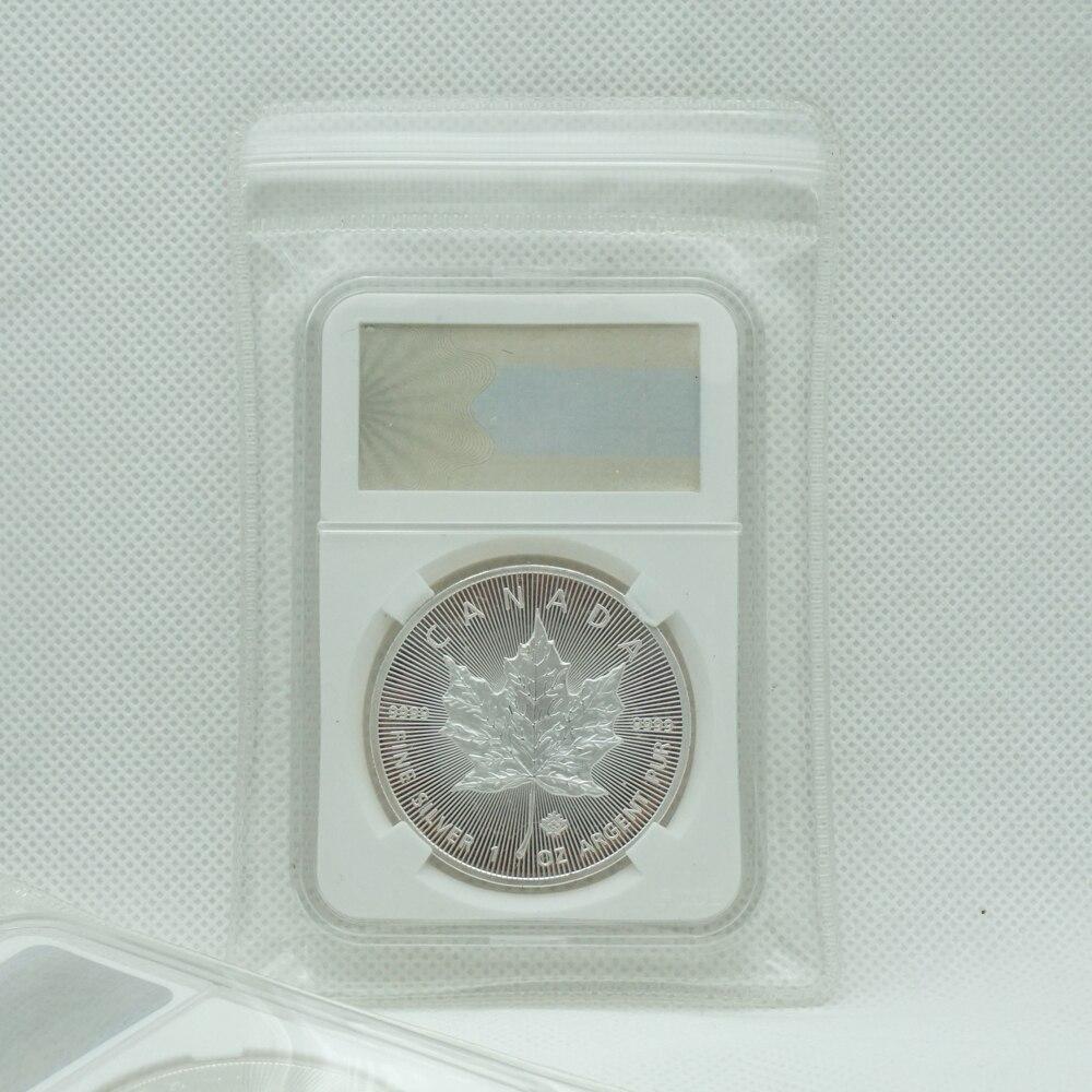 1OZ Канада Серебряный Кленовый лист елизания II королева долларов сувенирные монеты значок с PCCB чехол Высокое качество подарок