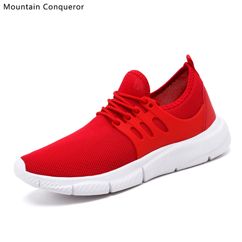 Mountain Conqueror 2019 New Big Size 39-47 Men Casual Shoes Lightweight Breathable Shoes Men Fashion White Sneakers