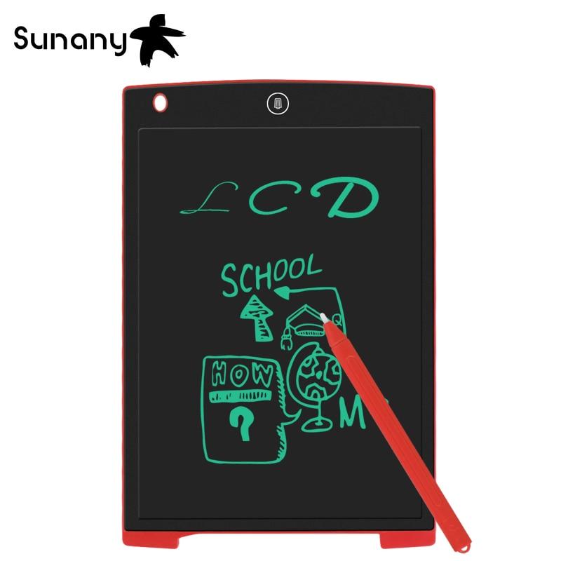 Sunany 12 אינץ גרפיקה tablet לילדים ומבוגרים LCD כתיבת לוח אלקטרוני כתב יד כרית דק לוח דיגיטלי ציור