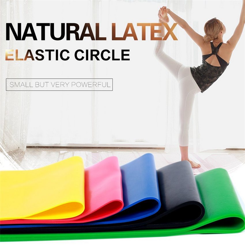 Yoga Elastic Bands Set Rubber Resistance Pilates Women Fitness Equipment Indoor Gym 5 Pcs Loops Pull Rope 5 Levels Drop Shipping