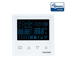 Z-Wave Plus Enabled Programmering Thermostaat Verwarming Met Lcd Touch Screen Voor Elektrische Verwarming