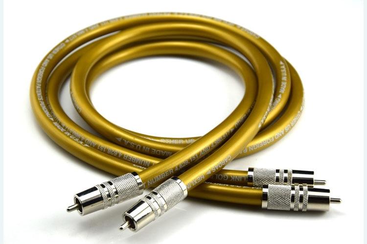 Une paire Hifi Cardas câble RCA pur OCC HIFI RCA câble d'interconnexion