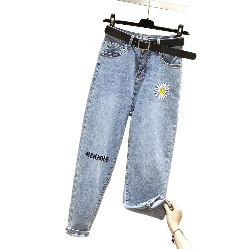 Woman Jeans Loose High Waist Wide Leg Ankle Length Denim Pants 2020 Spring Autumn New Female Harem Trousers Plus Size Pant 5XL