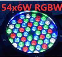 IP65 waterproof 54x6W led Par Light RGBW RGB 3in1 Windmill Cool white warm white led par light DMX512 control professional stage