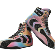 2020 Best Selling Mens Wrestling Shoes High Top Sneakers Mens Professional Man Boxing Shoes Rubber Anti Slip Boy Wrestling Boots
