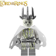 The Lord of the Rings Hobbit Witch-king of Angmar Lor104 Mouth of Sauron Mordor ORC minifig Building Blocks Kids Toys Gifts(China)